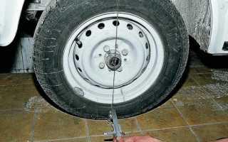 Углы установки колес автомобиль ваз 2107 — развал, схождение — регулировка